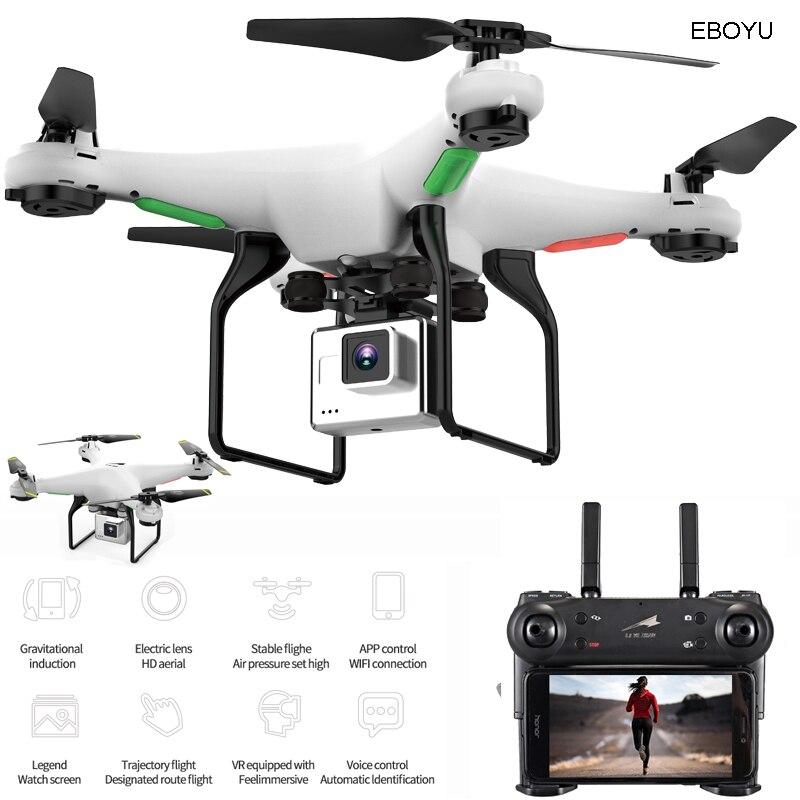 EBOYU L500 2.4Ghz RC Quadcopter 720P HD Camera Wifi FPV RC Drone 6-Axis Gyro One Key Return/Off/Land Altitude Hold Headless RTF